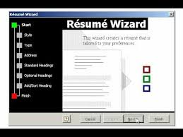 Using The Word I In A Resume by Creating A Resume Using The Wizard In Microsoft Word