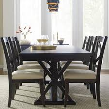 Rachael Ray Home By Legacy Classic Trestle Table And 6 Upholstered Chairs