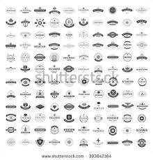 Vintage Logos Design Templates Set Vector Logotypes Elements Collection Icons Symbols Retro Labels