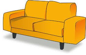 sofa möbel wohnzimmer orange kostenlose vektorgrafik auf