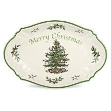 Spode Christmas Tree Merry Tray