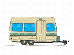 Unique Camper Rv Trailer Drawing Illustration Nomad