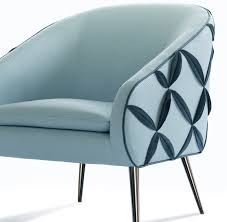 Decoration Interesting Blue Single Chair And Fashionable American