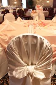 Chair Covers By Sylwia Inc by Dark Chocolate Lamour Satin With Lettuce Lamour Satin