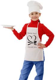 tablier de cuisine enfant tablier de cuisine pour enfants personnalisable à votre choix
