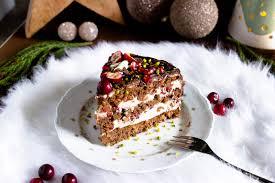nougat granatapfel torte zu weihnachten
