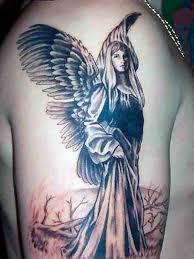 Man Right Half Sleeve Angel Tattoo
