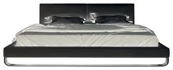 Modloft Ludlow Bed by Modloft Chelsea Platform Bed In White Leather Modern Platform