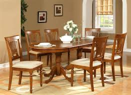 7PC OVAL DINING ROOM SET TABLE 42quotX78quot With LEAF And 6 Six Chair Dining Table Dimensions