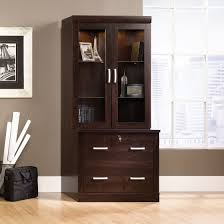Sauder File Cabinet In Cinnamon Cherry by Sauder 408294 Office Port Dark Alder Lateral File With Hutch