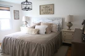 our rustic french farmhouse master bedroom with raymour and