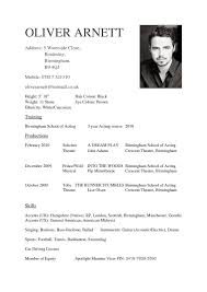 Resume Examples For Actors Acting Cv Beginner Template Actor Example Child Medium Size