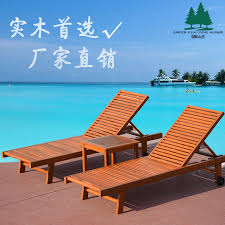 Garden Outdoor Wood Lying Bed Recliner Chair Swimming Pool Balcony Beach Folding Chairs Lunch Break In Sun Loungers From Furniture On Aliexpress