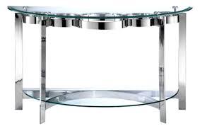 sofa stunning curvy chrome glass sofa table decor console perth