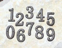 Metal House Numbers Rustic
