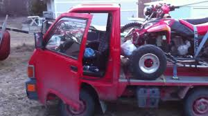 100 Hijet Mini Truck 1990 660cc Daihatsu Hijet With Fullsize Quad And Dirt Bike On The