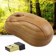 souris pour ordinateur de bureau 2 4 ghz usb bambou sans fil récepteur optique souris souris pour