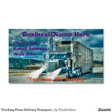 Trucking Firms Delivery Transport Biz Cards Business Card Magnet ...
