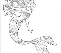 Free Coloring Pages Mermaid New In Minimalist Desktop Important Segment Of 10 Image