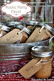 Rustic Party Favor Banana Bread In A Jar