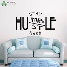 Motivation Wall Decal Quotes Stay Humble Hustle Hard Vinyl Stickers Office Modern Decor Removable Art