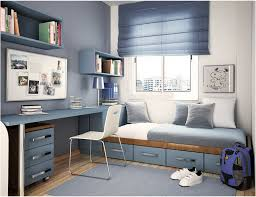 Bedroom Astounding Blue White Theme Furniture Design With Wall Scheme Paint Color Also Modern Cherry Wood Storage Bed And Brown Laminate