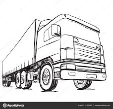Sketch Logistics And Delivery Poster. Hand Drawn Truck — Stock ... Semi Truck Outline Drawing Peterbilt Coloring Page How To Sketch 3d Arstic Of A Simple Draw Youtube An F150 Ford Pickup Step By Guide Illustration With Royalty Pencil Sketches Trucks Drawings Excellent Vector Cliparts To A Chevy Drawingforallnet Black White Stock 551664913 Old Speed Diesel Transportation Free