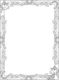 Black And White Christmas Page Borders