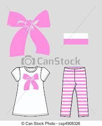 Girls Clothing Stock Illustration