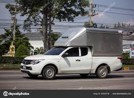 100 Mitsubishi Pickup Truck Chiangmai Thailand October 2018 Private Car Triton