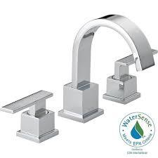 delta vero 8 in widespread 2 handle high arc bathroom faucet in