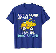 100 Funny Truck Pics Wedding Shirts Ring Bearer Shirts Boys Men Gifts TPopy