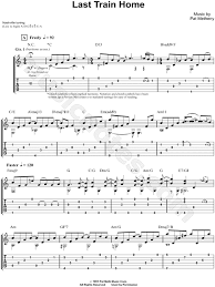 pat metheny my song pat metheny last home guitar tab in c major