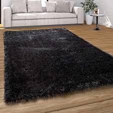 paco home hochflor teppich wohnzimmer shaggy pastell farben weicher soft garn einfarbig grösse 200x290 cm farbe anthrazit