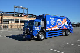 100 Sanitation Truck NY Mets New York Mets Ny Mets New York Mets
