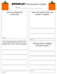 Spookley The Square Pumpkin by Spookley The Square Pumpkin Response Sheet By Lisa Mcandrews Tpt