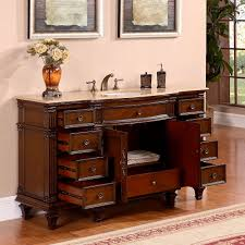 60 Inch Bathroom Vanity Single Sink by Silkroad 60 Inch Vintage Single Sink Bathroom Vanity Roman Vein