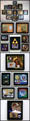 The Entire Legend Of Zelda Video Game Series Mounted On Wall Using Custom 3D