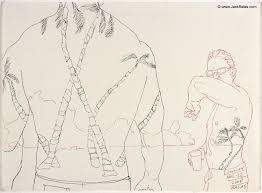 Jack Balas 2008 Honolulu Drawing 22 Untitled Palm Tattoos Back 1 Ink On Paper Approx 9 X 12