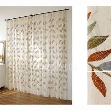 Country Style Living Room Curtains by Country Style Embroidery Linen Sheer Curtain For Living Room