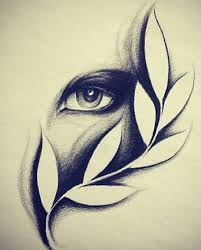 Eye Vine Drawing Black And White Pencil Shading