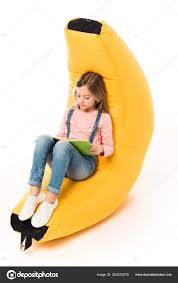 Kid Casual Clothes Sitting Bean Bag Chair Reading Book White — Stock ... Bean Bag Chairspagesepsitename Kids Bean Bags King Kahuna Beanbags Reading Lounge Chair Pink Target Bag Gardenloungechairs Thunderx3 Db5 Series Gaming Beanbag Cover Temple Webster Fascating Nook Ideas For Renohoodcom Hibagz Review Cheap Gamerchairsuk Chairs White Large Tough And Textured Outdoor Bags Tlmoda Giant Huge Extra Add A Little Kidfriendly Seating To Your Childs Bedroom Or