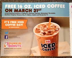Pumpkin Iced Coffee Dunkin Donuts 2017 by Free Coffee Day Dunkin Donuts Halflifetr Info