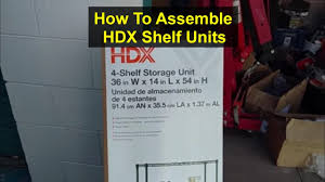 Hdx Plastic Storage Cabinets by How To Assemble Hdx Shelf Storage Unit Votd Youtube