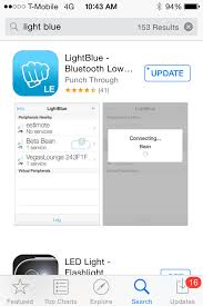 Downloading and Using Light Blue or BLE Scanner Lilypad Scales Inc