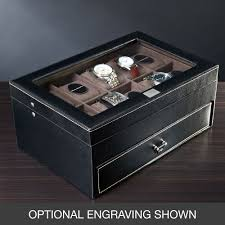 Dresser Valet Watch Box by Valet Box Treviso Leather Valet Box And Ten Watch Display Case