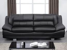 ventes uniques canapes canapé 3 places en cuir noir canapé vente unique leather