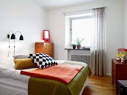Apartment Bedroom Ideas For Beauteous White Wall