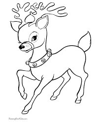 Cute Reindeer Free Printable Coloring Pages