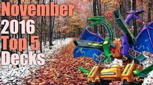 Top Ten Yugioh Decks 2017 by Yugioh Top 5 Decks November 2016 Meta Youtube